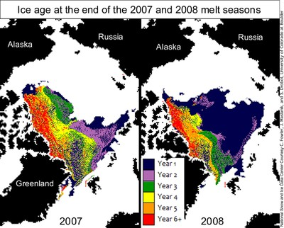 2008-09 Multiyear Ice Depletion 2007-2008