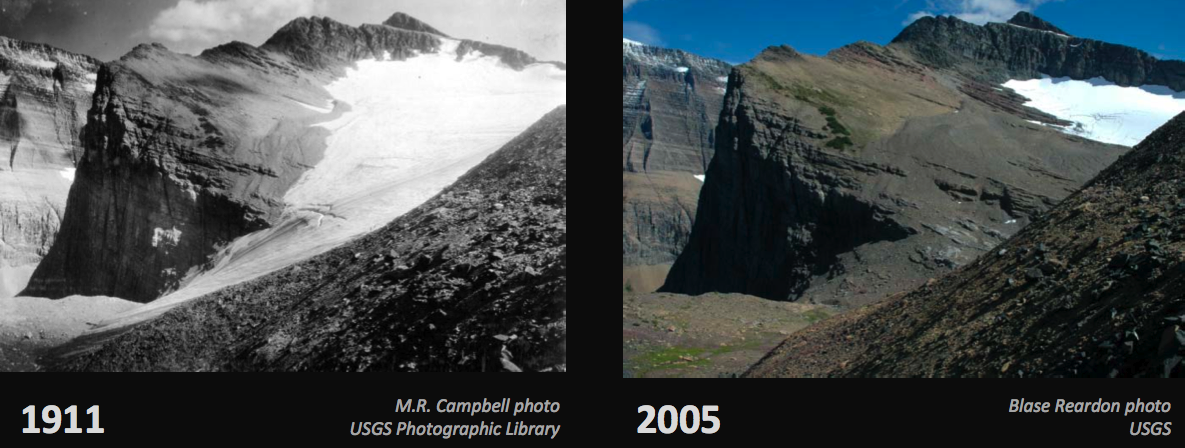 Chaney Glacier Retreat 1911-2005