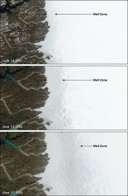 Greenland Melt Zone Creep