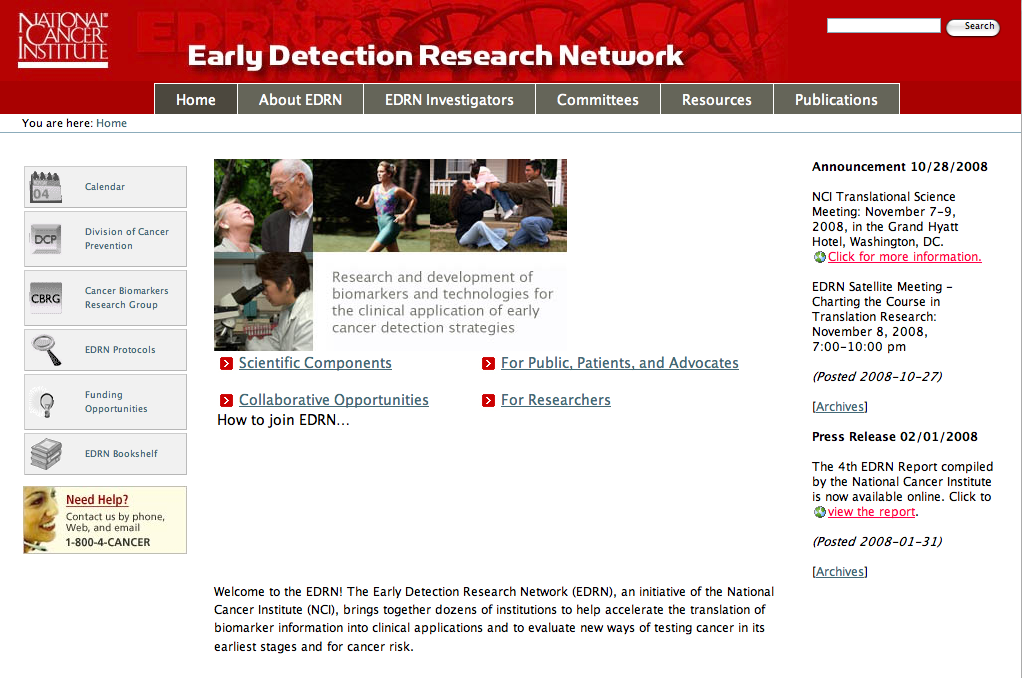 Early Detection Research Network