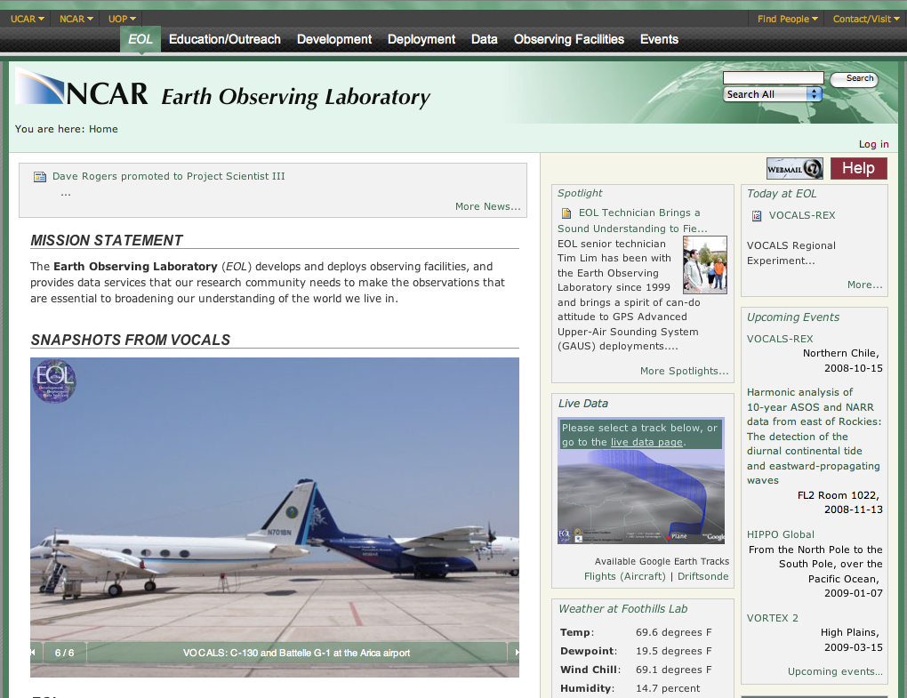Earth Observing Laboratory (EOL)